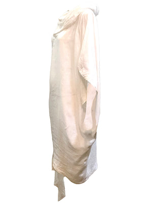 Claude Montana 80s White LInen Tunic SIDE 2 of 4