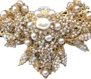 Stanley Hagler Large Pearl Encrusted Necklace  CLOSE  UP 2 of 3