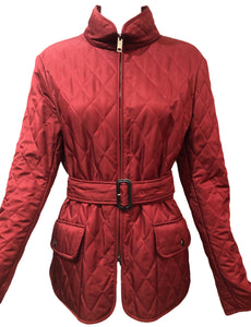 Burberry Burgundy Quilted Jacket