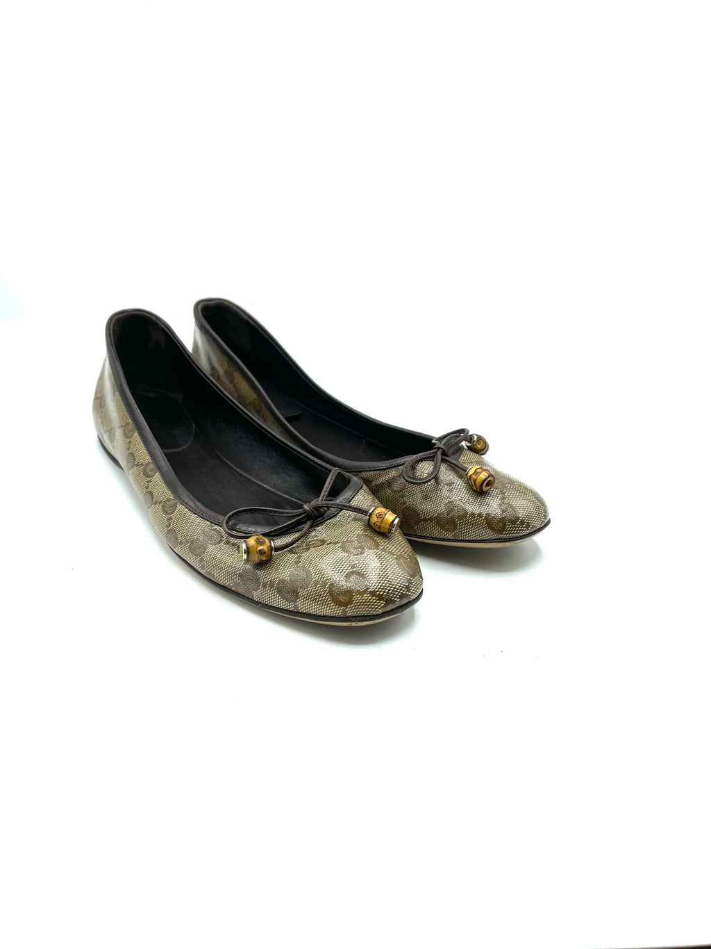 Gucci Early 2000s Logo Ballet Flat  Shoes SIDE 1 of 6