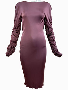 Gucci Tom Ford Era Slinky Mauve Jersey Dress FRONT 1 of 3