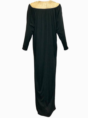 Bill Tice 70s Black Jersey Evening Caftan BACK 2 of 4