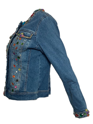 90s Bedazzled Denim Jacket  SIDE 3 of 6