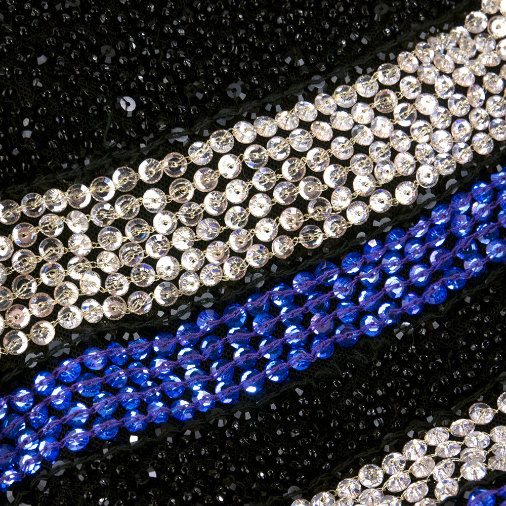 Vintage VERSACE 90s Fully Beaded Asymmetrical Pattern Ensemble, detail 2