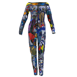 Vintage VERSACE 90s Iconic Beaded Chagall Catsuit