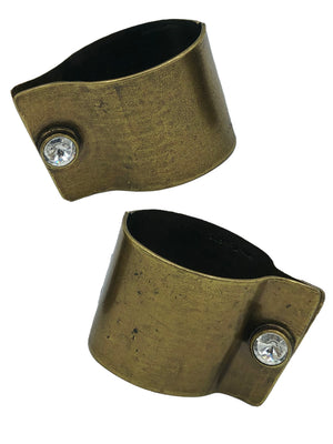 Avant Garde Label Brass Hinged Cuff with Cufflink Avant Garde Label Brass Hinged Cuff with Cufflink Closure FRONT 1 of 3