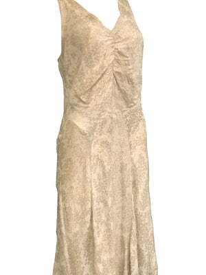 30s Gold Lame Gown with Full Length Slip SIDE 2 of 4