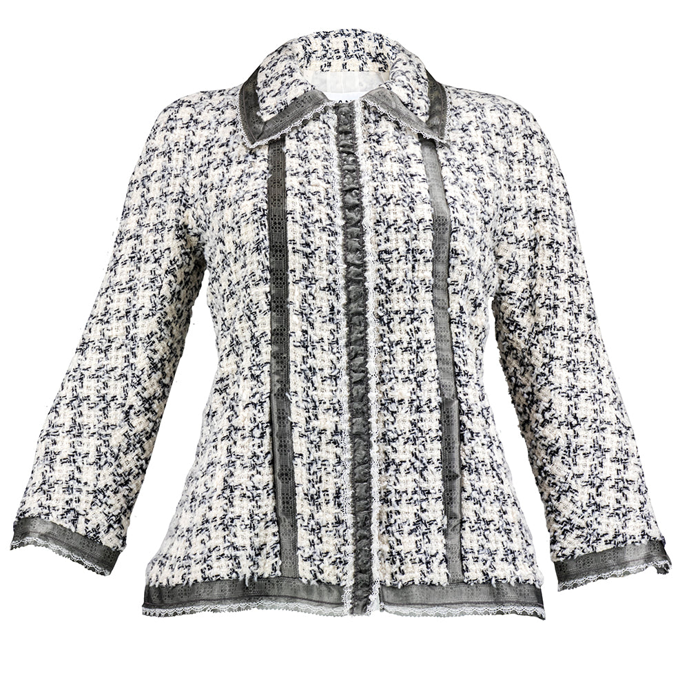 CHANEL Nubby Wool Tweed Jacket
