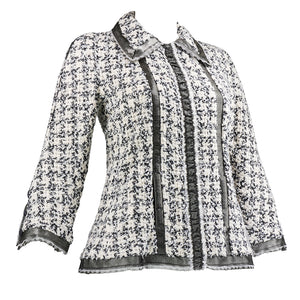 CHANEL Nubby Wool Tweed Jacket, side