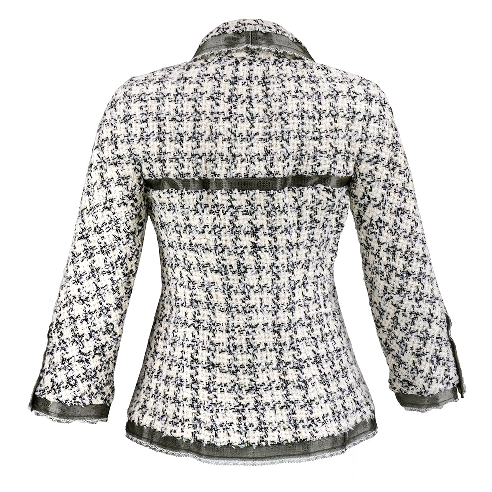 CHANEL Nubby Wool Tweed Jacket, back