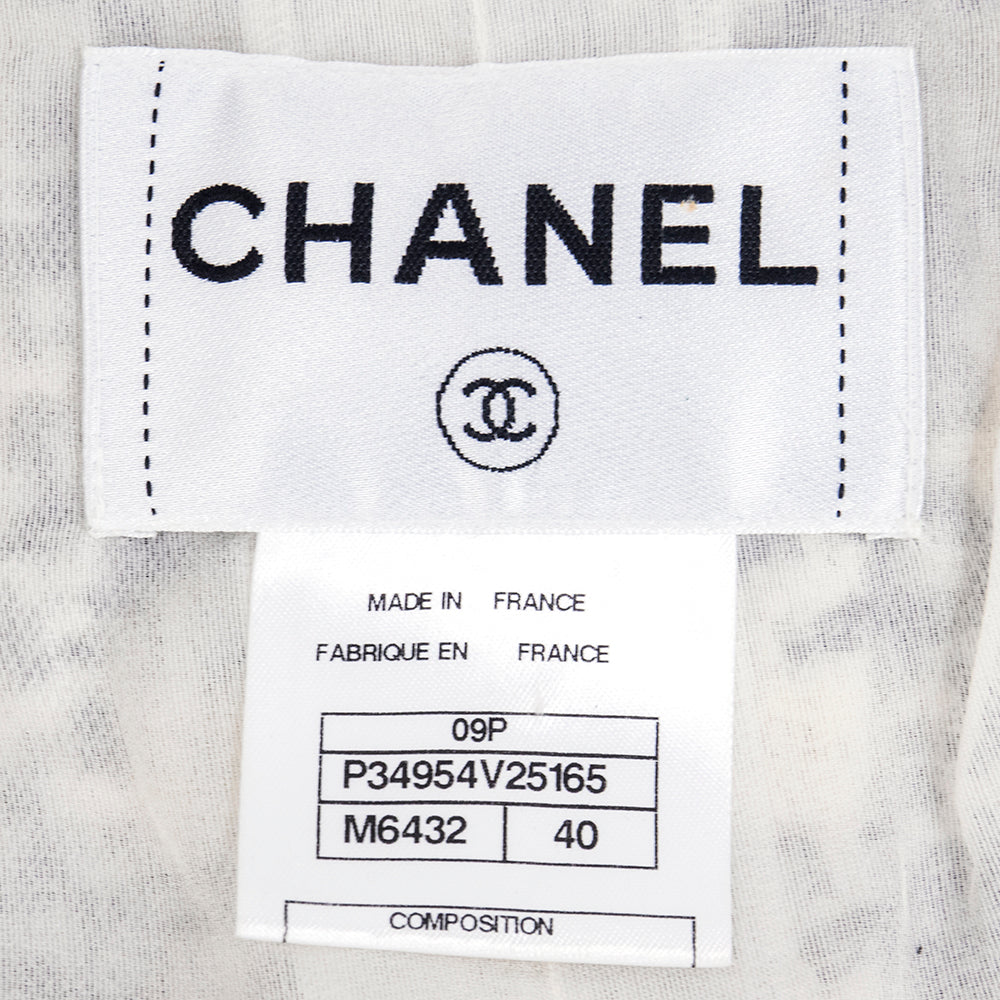 CHANEL Nubby Wool Tweed Jacket, label
