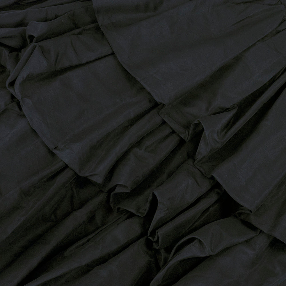 Vintage YSL for DIOR 50s Black Silk Tiered Dress, detail 2