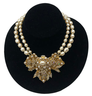 Stanley Hagler Large Pearl Encrusted Necklace  FRONT 1 of 3