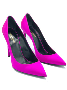YSL Contemporary Hot Pink Stiletto Heeled Shoes PAIR 1 of 4