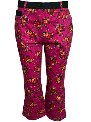 Dolce and Gabbana Two Piece Pink Floral Denim Ensemble PANTS 4 of 6