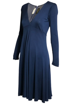 Scott Barrie 70s Blue Jersey  Dress  SIDE 2 of 4