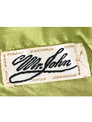 Mr. John Pant Suit Pink and Green Eyelash Lame LABEL 6 of 6