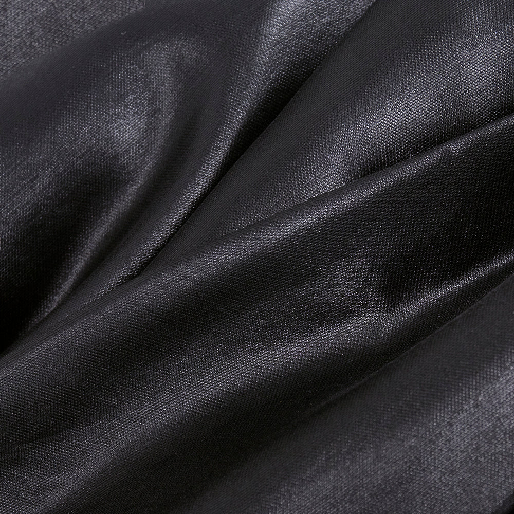 Givenchy 2000s Silky Black Asymmetrical Party Dress  DETAIL 4 of 5