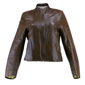 Vintage GIVENCHY 90s Brown Leather Jacket