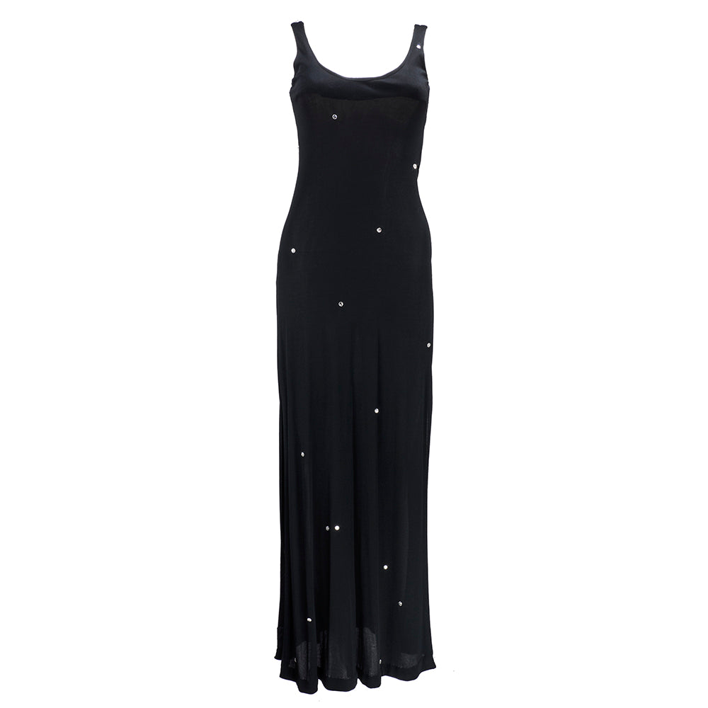 Vintage HALSTON 80s Crystal-Beaded Silk Jersey Dress – THE WAY WE WORE
