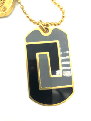 Lifetime Versace Gold Tone Enamel Dog Tags ENAMEL TAG 2 of 5