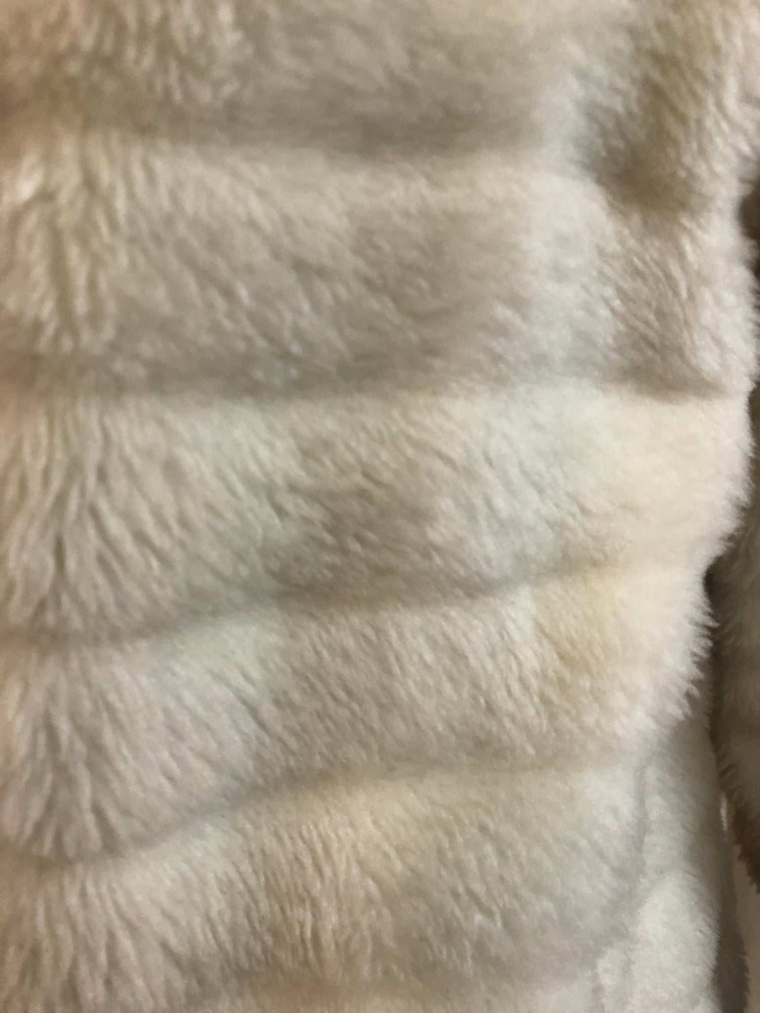Gino Charles  60s White Faux Fur Coat with Fur Trim CLOSE UP 4 of 6Gino Charles  60s White Faux Fur Coat with Contrasting Trim CLOSE UP 4 of 6
