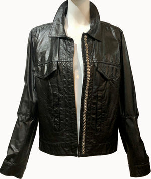 Ann Demuelemeester 90s Black Leather Jacket Open 3 of 5