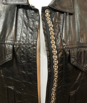 Ann Demuelemeester 90s Black Leather Jacket Detail 5 of 5