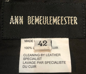 Ann Demuelemeester 90s Black Leather Jacket Label 4 of 5