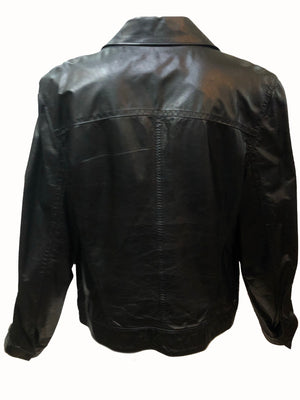 Ann Demuelemeester 90s Black Leather Jacket  Back 2 of 5
