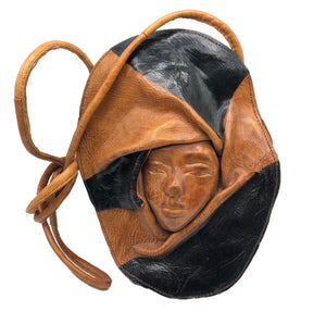80s Leather Art To Wear Face Purse FRONT 1 of 5