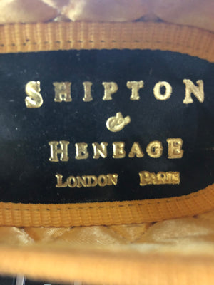 Shipton and Heneage  Bespoke Red and Gold Slippers size 6 LABEL 5 of 5