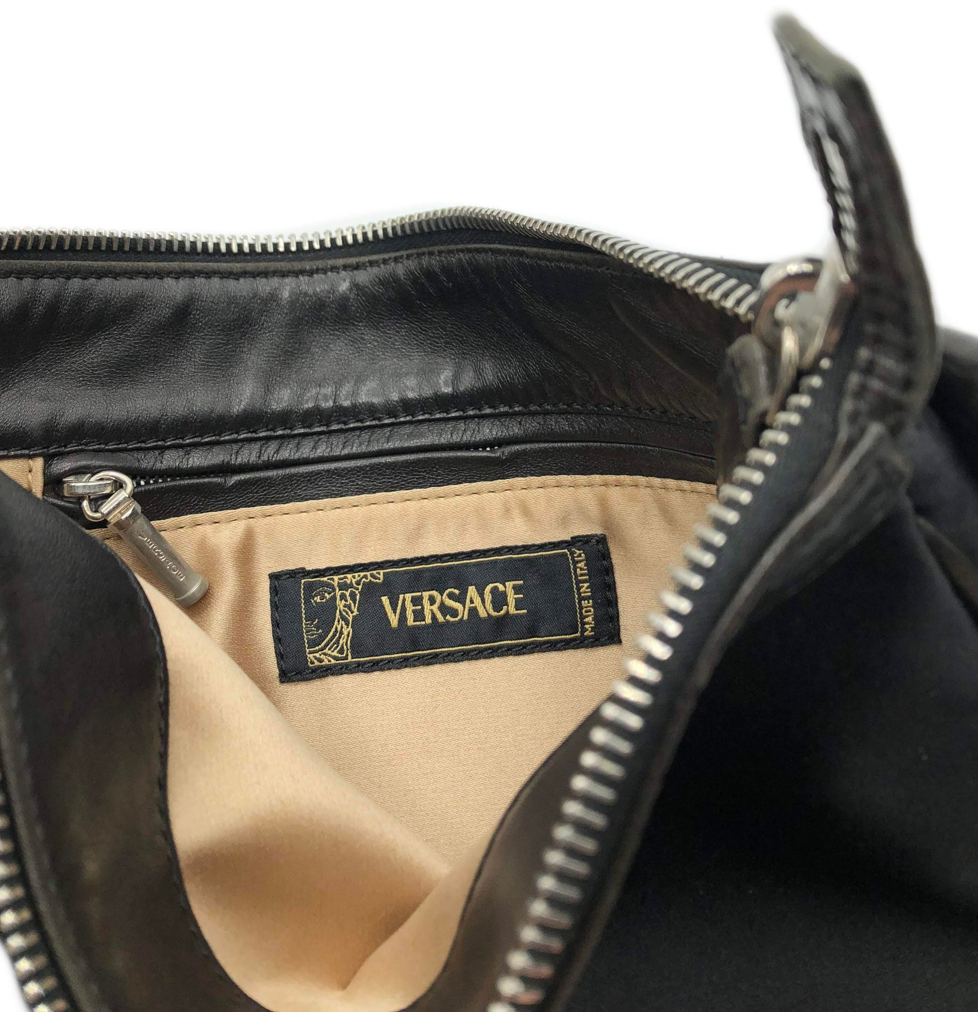 Versace 90s Black Nylon Pochette 4 of 4