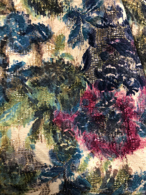 Arnold Scaasi 60s Attribution Brocade Metallic Evening Jacket  PRINT DETAIL 5 of 5