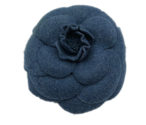 Chanel Blue Camelia Brooch  Front 1 of 3