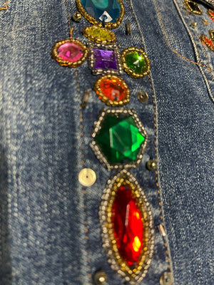 90s Bedazzled Denim Jacket  CLOSE UP 6 of 6
