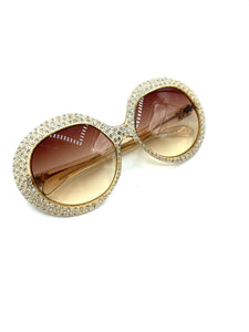 70s Rhinestone Encrusted  Sunglasses FRONT 1 of 6