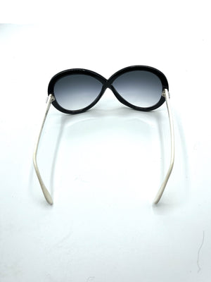 Silhouette 80s Black and White Infinity Sunglasses BACK 3 of 5