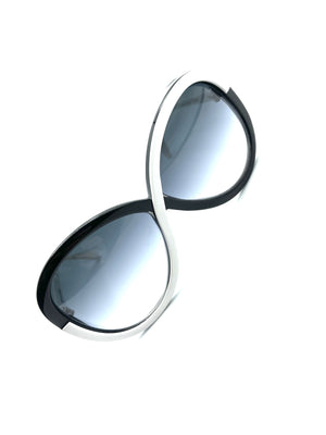 Silhouette 80s Black and White Infinity Sunglasses FRONT 2 of 5