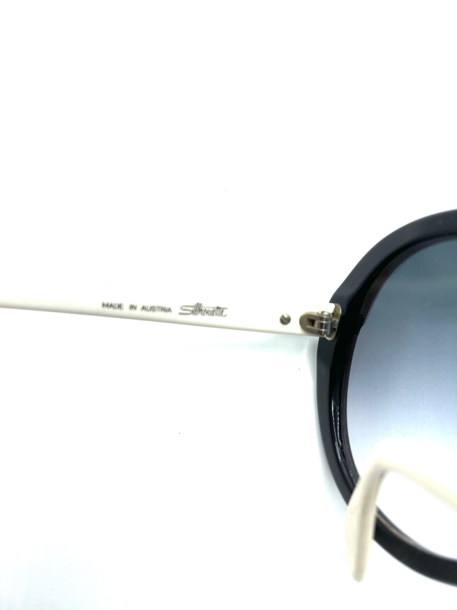 Silhouette 80s Black and White Infinity Sunglasses LABEL 4 of 5