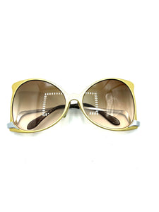 Ultra 70s Gold Butterfly Sunglasses FRONT 1 of 5