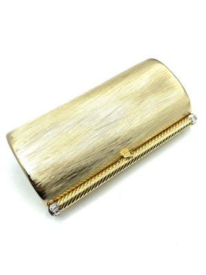 Rodo 80s Gold Tone Evening Clutch FRONT 1of 4