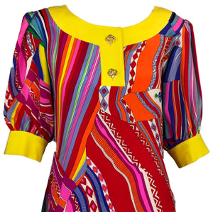 Leonard Multi-Color Silk Dress 3 of 7