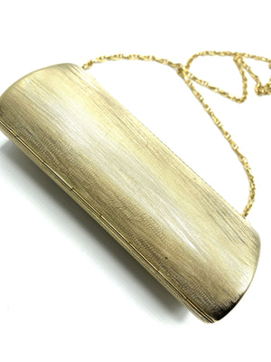 Rodo 80s Gold Tone Evening Clutch BOTTOM 3 of 4