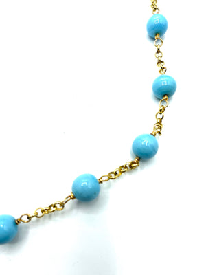 Chanel Faux Pearl and Glass Bead Sautoir Necklace DETAIL 2 of 4