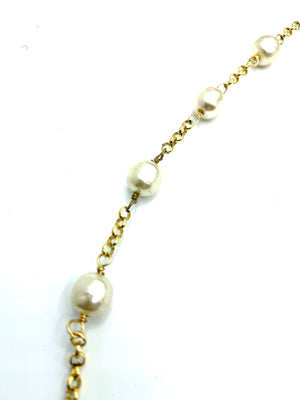 Chanel Faux Pearl and Glass Bead Sautoir Necklace DETAIL 3 of 4