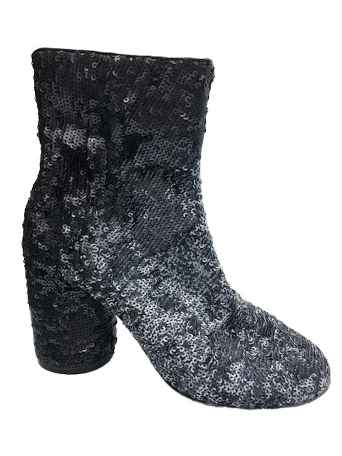 Margiela Contemporary Black and Silver sequin Ankle Boot Side 2 of 5
