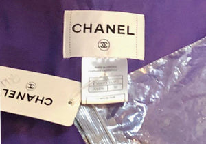 Chanel Contemporary Purple Taffeta Evening Coat with Oversize Bow Label 8 of 8