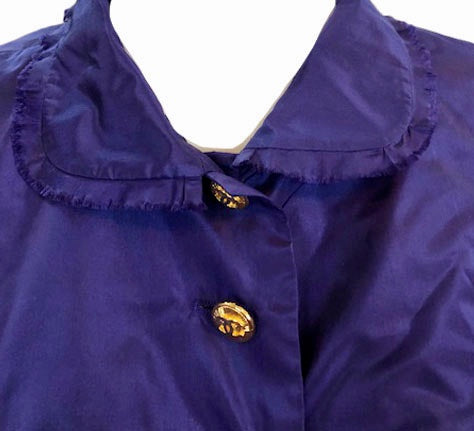 Chanel Contemporary Purple Taffeta Evening Coat with Oversize Bow Detail B 4 of 8