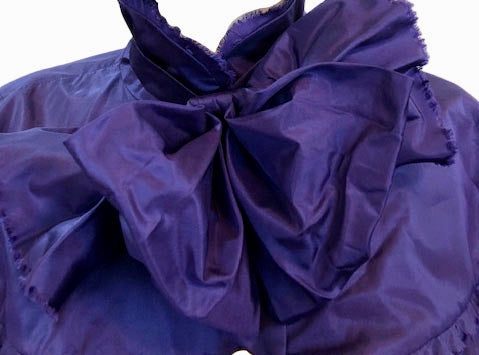 Chanel Contemporary Purple Taffeta Evening Coat with Oversize Bow Detail A 3 of 8